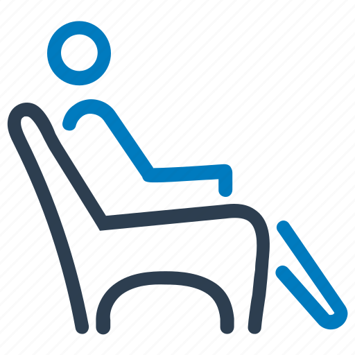 patient, relax, retirement, siting, waiting room icon