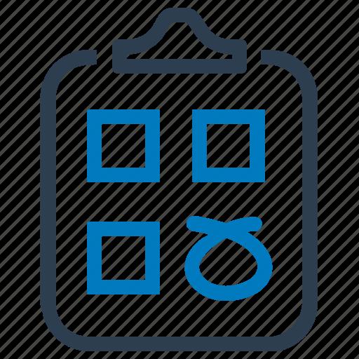 application, audit, check, clipboard, form, tasks, test icon
