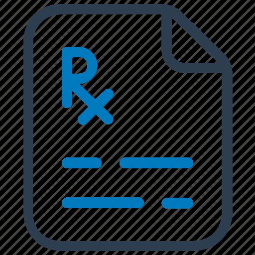 diagnosis, medical, prescription, report icon
