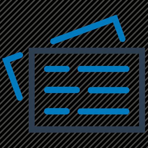 blog, feed, news, newspaper icon