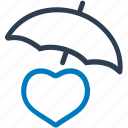 healthcare, heart, insurance, life insurance, protection icon