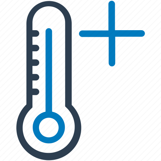 high temperature, hot day, summer, temperature, thermometer icon