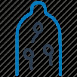 preserve, prevention, protection, rubber, sperm, spermicide icon