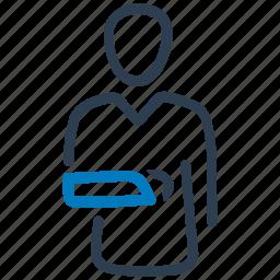 arm, broken, fracture, hand, injury icon