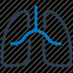breath, human, lungs, pulmonary, pulmonology icon