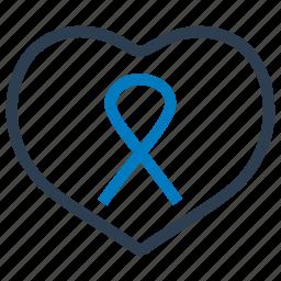 awareness, day, heart, heart awareness, ribbon, world icon