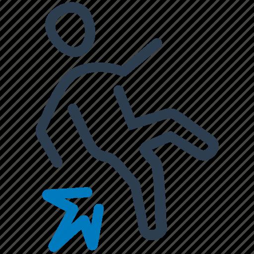accident, fall, hazard, risk, slip icon