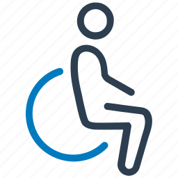 disability, disabled, handicap, wheelchair icon