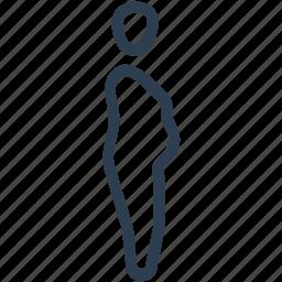 body, fat, man, unhealthy icon