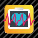 diagnostics, erg, healthcare, heart rate icon