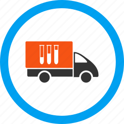 analysis delivery, deliver, logistics, medical, shipping, transportation, truck icon
