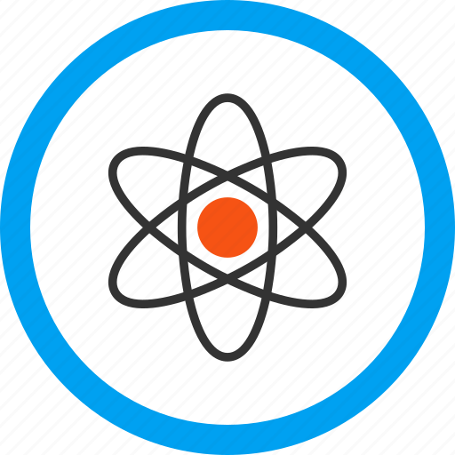 atom model, atomic power, electron orbit, nuclear physics, research, science, technology icon