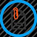 attach, attached, attachment, document, fastener, paper clip, paperclip
