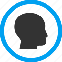 bald head, client profile, face, human, man, person, user account icon