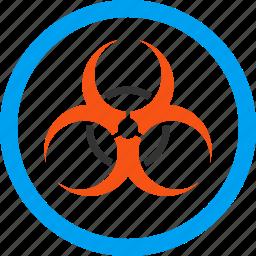 attention, bio hazard, biohazard, biological danger, caution, epidemic, infection icon