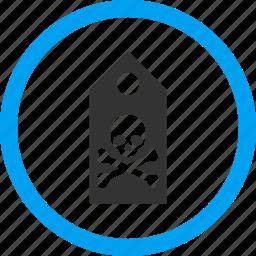 danger, dead, death mark, marker, morgue label, pirate tag, sticker icon