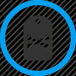 danger mark, dead, death tag, marker, morgue label, pirate sticker, warning icon