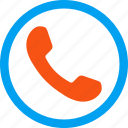dial, phone receiver, telephone, number, contact, call, connect icon
