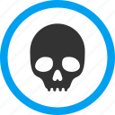 danger, dead head, death, pirate, poison, skull, toxic icon