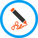 compose, draw, ink, signature, subscribe, write, writing pencil icon