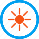 brightness, light, radiation, shiny, sun rays, sunny, sunshine icon