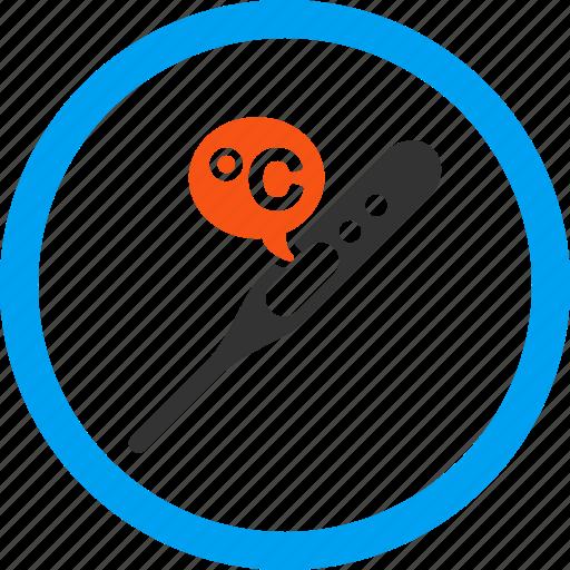 celsius, degree, heat, measurement, temperature, thermometer, value icon