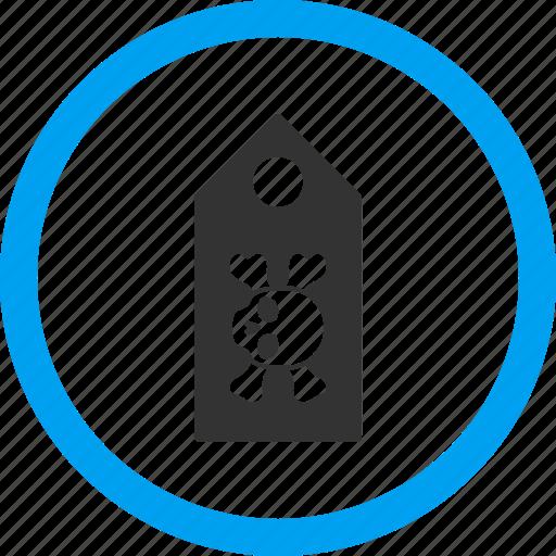 danger, dead, death label, evil, marker, pirate tag, sticker icon