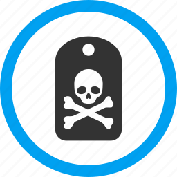 danger, dead, death label, evil, marker, pirate tag, sticker icon