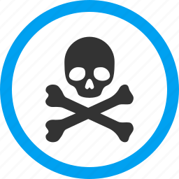 crossbones, danger, dead, death, evil, skull, toxic icon