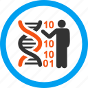 dna code, education, genetic engineering, genetics, medicine, report, science icon