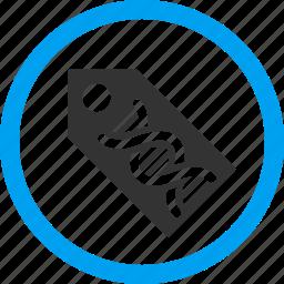 biotechnology, coding, dna marker, genetic code, molecule, spiral, sticker icon