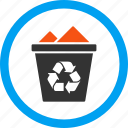 basket, full, garbage, recycle bin, rubbish, trash can, waste icon