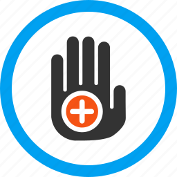hand, healthcare, location, medical marker, medicine, palm, place icon