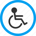 disability, disabled person, handicapped, illness, sick, wheel chair, wheelchair icon