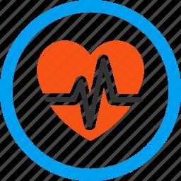 analysis, cardio, cardiogram, graph, heart diagram, heartbeat, pulse icon