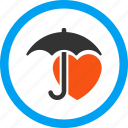 guard, health, heart, protection, safety, shield, umbrella icon