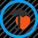 guard, health, heart, protection, safety, shield, umbrella