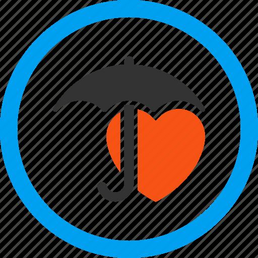 guard, health, heart, protection, safety, shield, umbrella icon