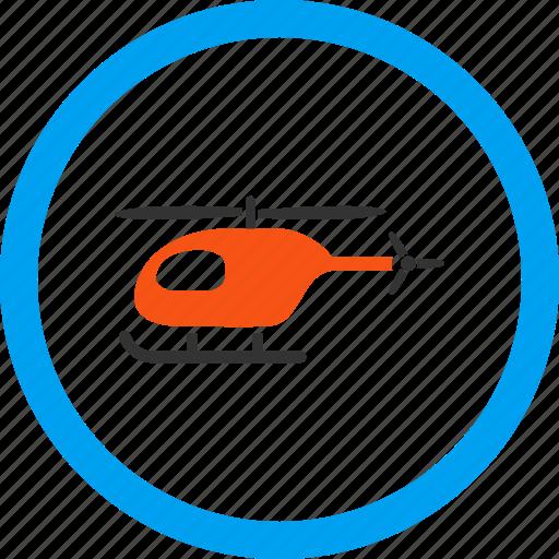 aviation, chopper, flight, helicopter, transport, transportation, vehicle icon
