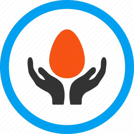 care, development, egg, hands, incubator, startup, support icon