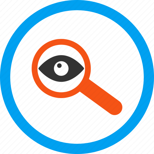 audit, investigate, look, magnifying glass, research, review, search icon