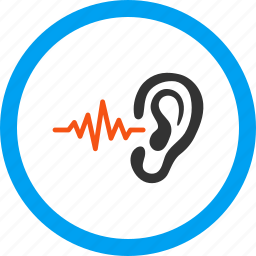 audio, ear, hear, listen, news, sound, voice icon