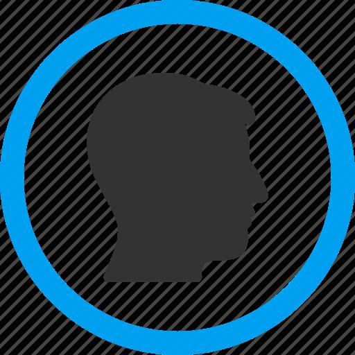 avatar, client profile, face, male, man head, person, user account icon
