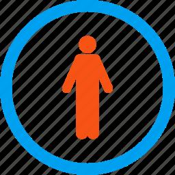 boy, customer, gentleman toilet, guy, human profile, male person, man icon
