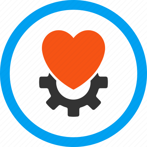 configuration, hardware, install, mechanical heart, medical execution, setup, treatment icon