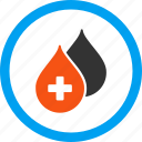 blood, clean, clear, drop, medical drops, oil, water icon