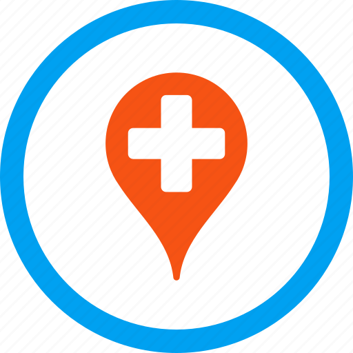 location, map marker, medical pointer, medicine, navigation, pin, point icon