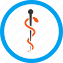 asclepius, health, medical needle, medicine, pin, therapy, treatment icon