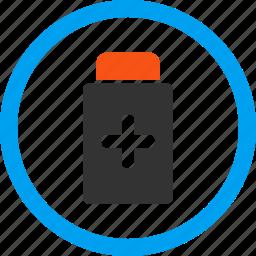 bottle, glass, medical drugs, medication, pharmacy, pills, tablets icon
