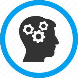 brainstorm, genius, logic, memory, mind gears, psychology, strategy icon